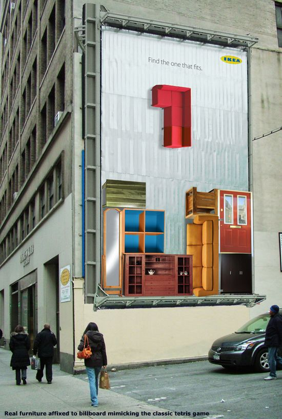 Find the one that fits - Real furniture used to mimic the classic Tetris game for IKEA (Jeski Social Campaign)