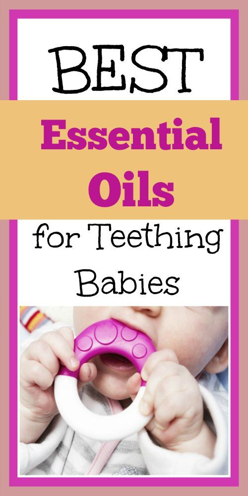 Before modern teething medicines, moms everywhere already knew about using some essential oils for teething pain in their babies.