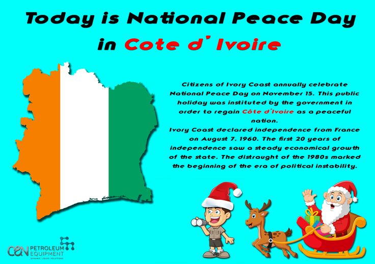 Today is National Peace Day in Cote d' Ivoire🇨🇮️ -Peace cannot be kept by force; it can only be achieved by understanding✌️ #peace #cotedivoire