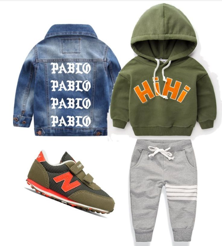 """337 Likes, 4 Comments - Online Children's Store (@brooklyn_lighthouse) on Instagram: """"#outfitgrid: #PABLO Denim Jacket   HI Pullover   BK x Waves 10   footwear from #newbalance // . .…"""""""