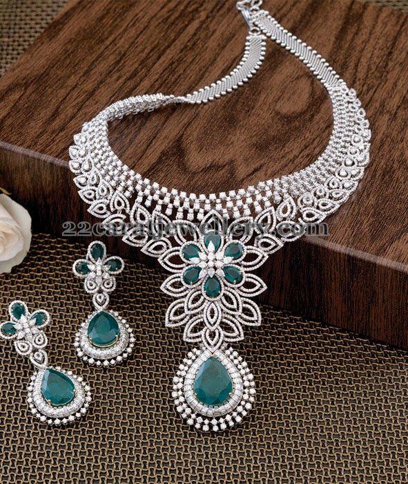 Jewellery Designs: Pretty Collar Choker in Floral Design