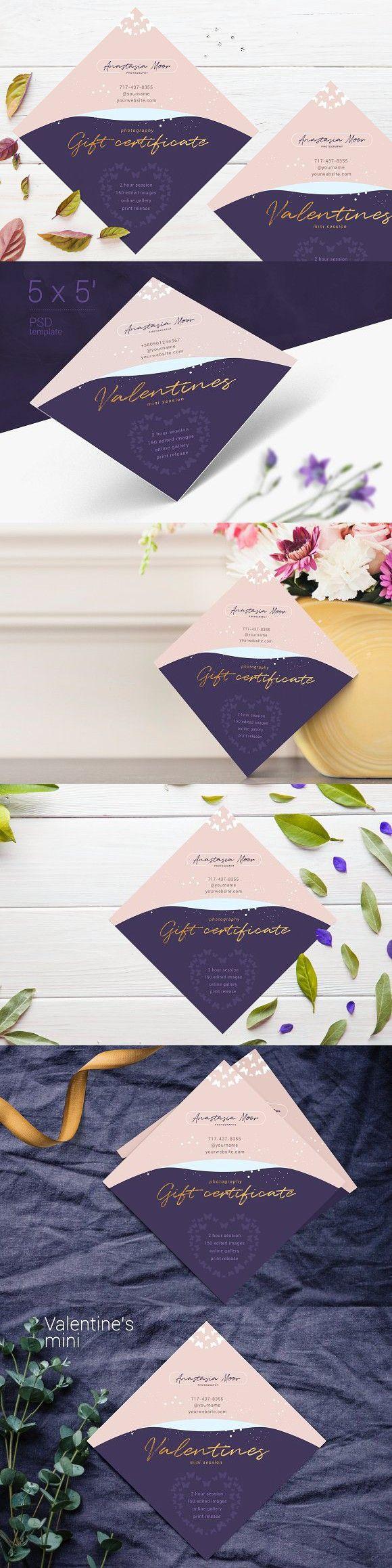 Purple Gift Certificate Template #giftcertificate #giftvoucher