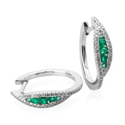 Cercei cu smaralde si diamante C130