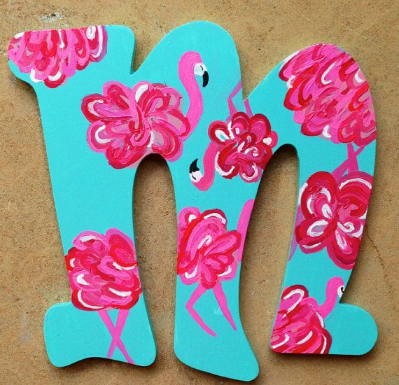 letters in my favorite lilly print!