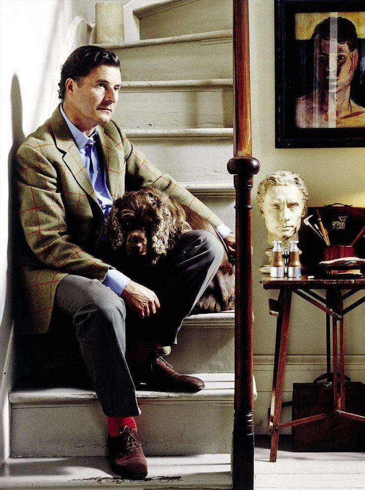 Classic style we are addicted to | iqfashion: Jeremy Hackett (I love the dog.)