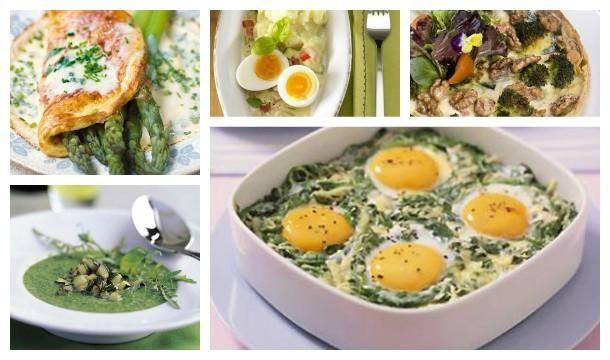 Die Kombination Spinat und Eier ist typisch für den Gründonnerstag