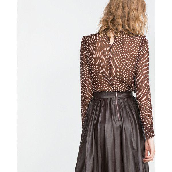 Zara Blouse With Transparent Frills 10