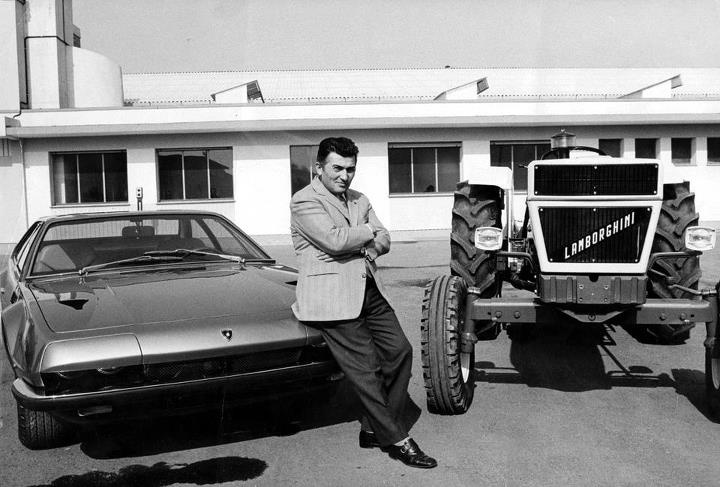 Feruccio Lamborghini and his tractors:)