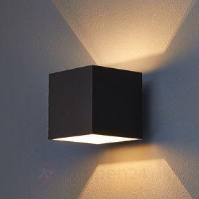 Zwarte wandlamp Almir voor G9-lampen