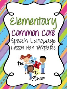 205 best data lesson plans forms images on pinterest for Speech pathology lesson plan template