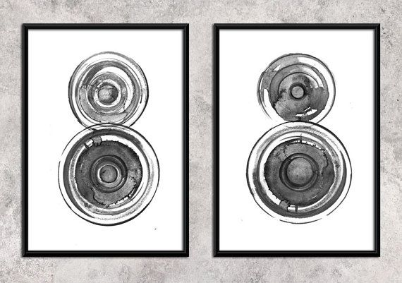 wheels  abstract   Watercolor Art Print  Wall Decor by ArtCCarol