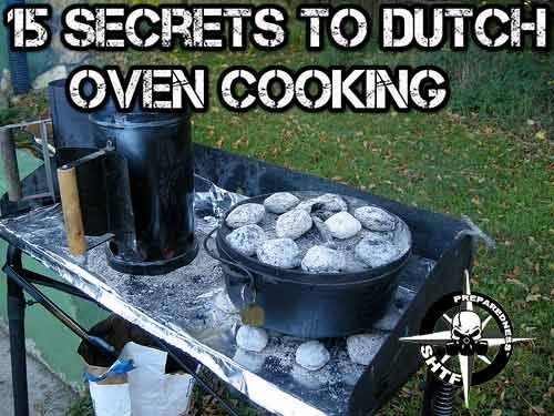15 Secrets to Dutch Oven Cooking - for one, wrap the grill in tin foil! Genius