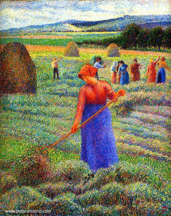 Camille Pissarro - Haymakers at Eragny Fecha de finalización: 1889 Estilo: Impresionismo