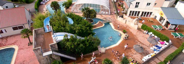 La Cote de Nacre. Camping op 500m van het strand. met waterpark en overdekt zwembad.