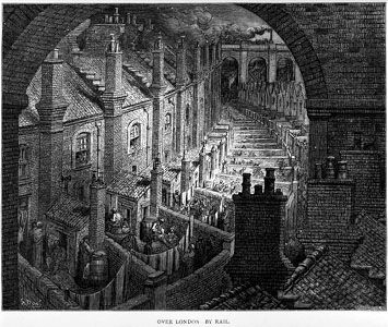 Gustave Doré. ''Over London by Rail''
