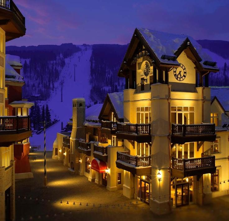 Beautiful mountain town of Vail, Colorado