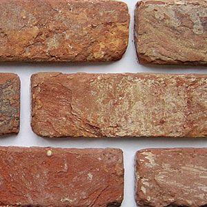 Antique Blend Brick Slip. Hand cut at Brick Slips Ltd. A very popular Slip. Known for its tumbled edge reclaimed appearance. £25.65 per half square metre. Genuine brick slips. www.brickslips.net