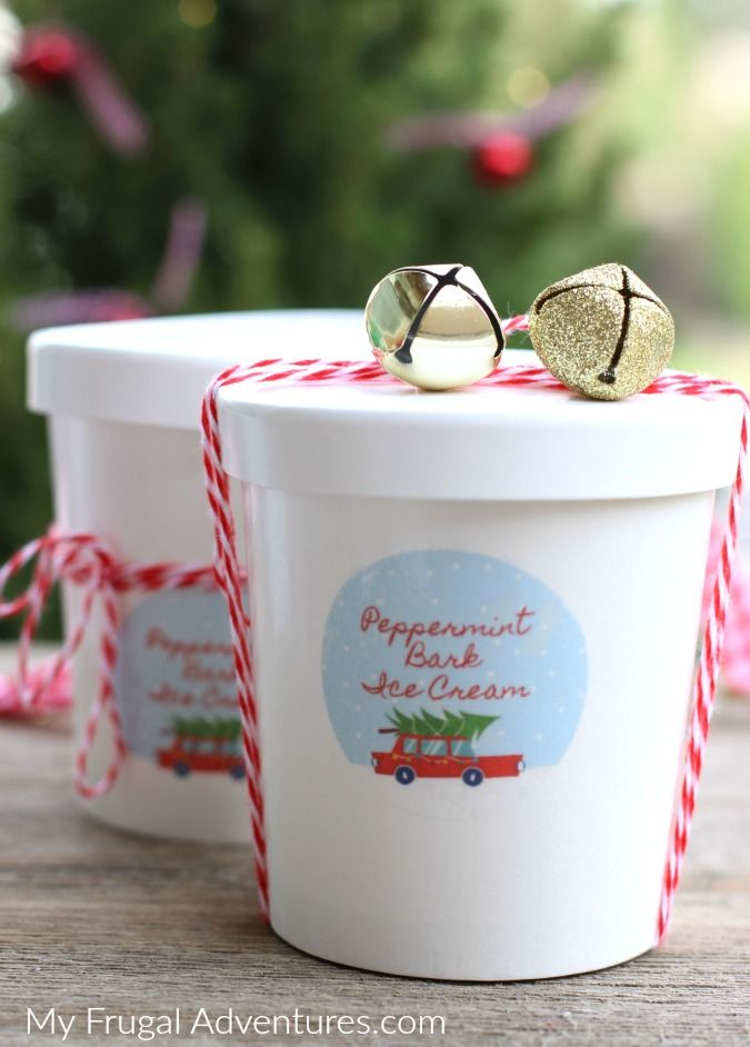 Make Your Own Christmas Gift Ideas Part - 22: Make Your Own Homemade Peppermint Bark Ice Cream To Deliver As Sweet  Holiday Gifts This Season