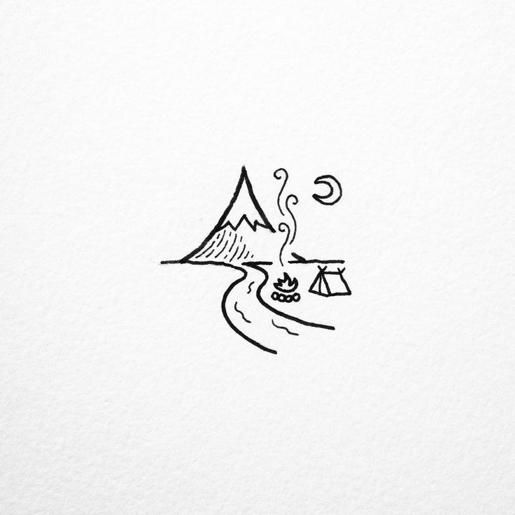 best 25 camping tattoo ideas on pinterest mini drawings