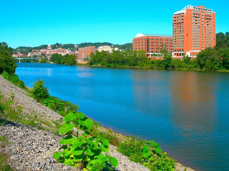 Morgantown, WV : View of downtown Morgantown from the Locks and Dam.