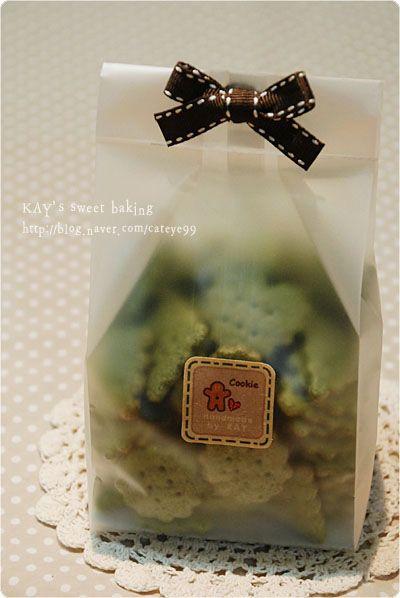 【让利】韩国烘培包装 透明磨砂立式袋 平口西点袋 饼干袋 5枚入-淘宝网