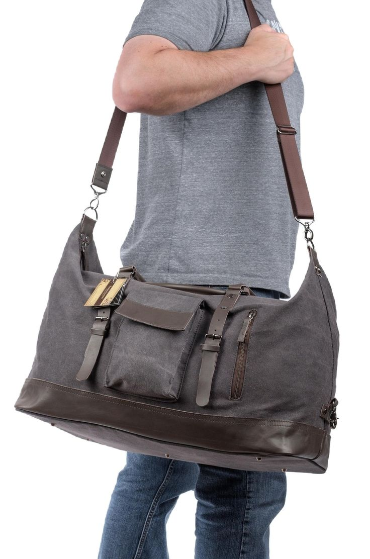 Dufflebags by Potenza perfect for travel or overnight trips Duffle bag for men and women, Canvas and Genuine Leather. FREE SHIP PROMO LIFETIME WARR… | Duffle B…