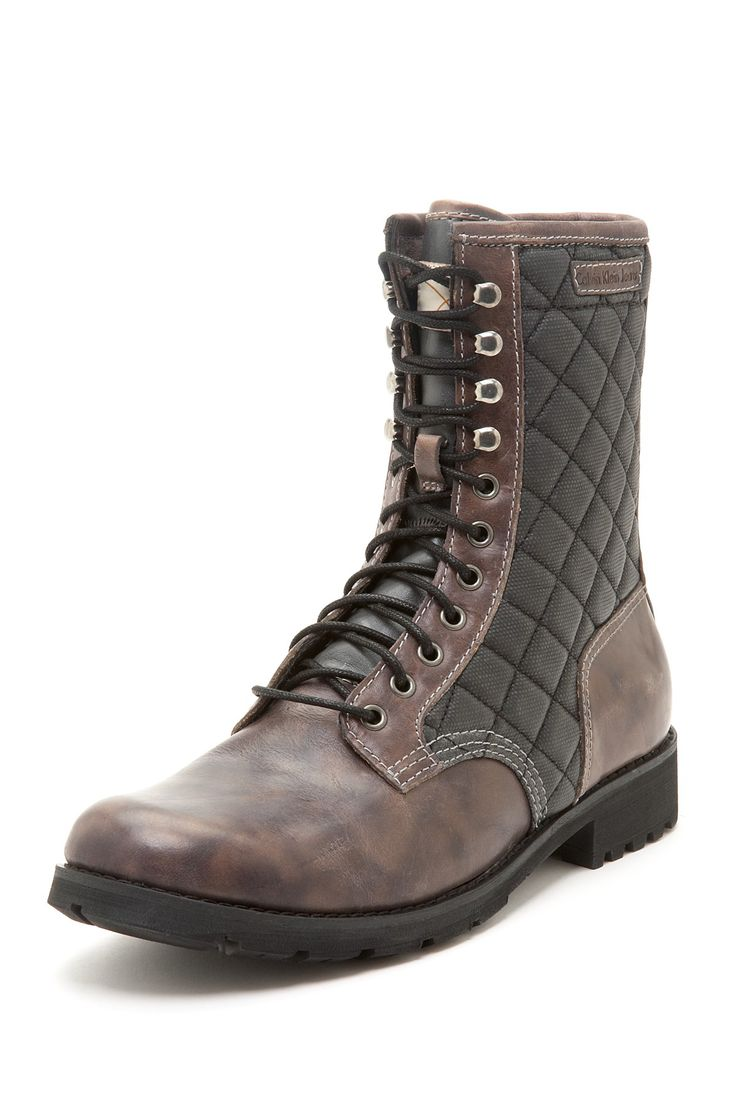brett waxed leather canvas boot shoes
