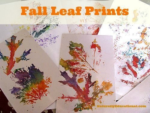 40+ Creative DIY Craft Projects with Fall Leaves --> Painting with Fall Leaf…