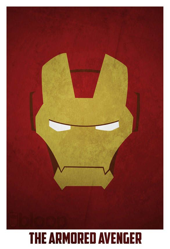 superheroes and villains minimal art posters by bloop -Iron Man