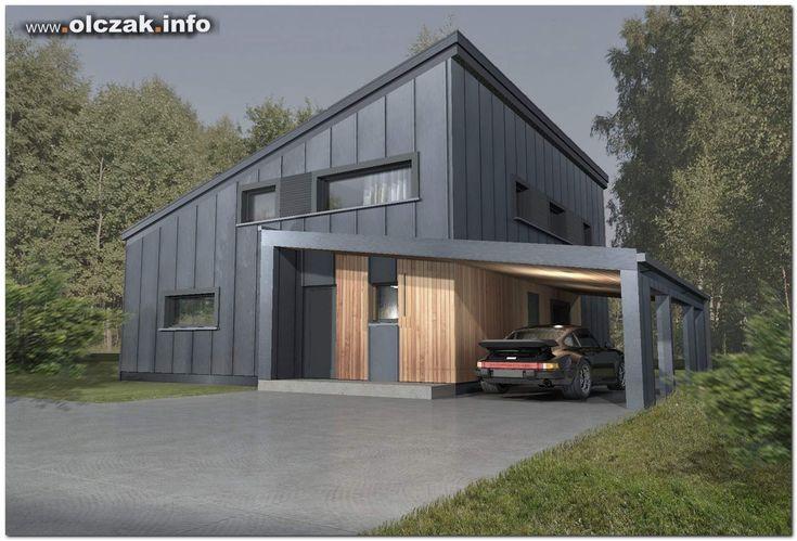 Architekt Maciej Olczak - projekt domu z jednospadowym dachem