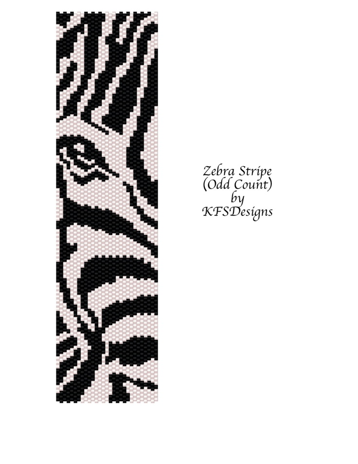 Peyote Bracelet Pattern Zebra Stripe Buy 2 Patterns by KFSDesigns