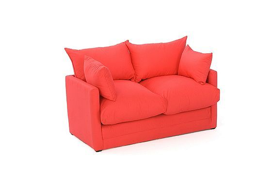Tesco direct: Comfy Living Fold Out Childrens Sofa Bed with Cushions in Red