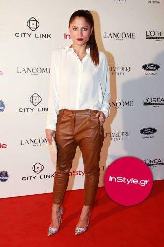 Mary in our #leather_look high waist pants at #In_Style mag's party! #BSB_FW14