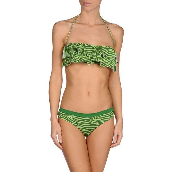 Marzia Genesi Sea Bikini ($36) ❤ liked on Polyvore featuring swimwear, bikinis, green, bikini two piece, green bikinis swimwear, bikini swim wear, zebra bikinis and green bikini