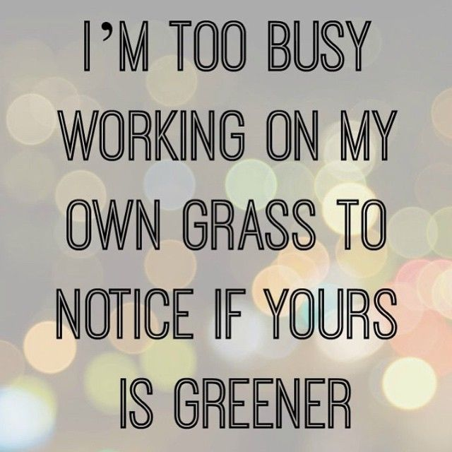 The grass isn't always greener on the other side of the fence.