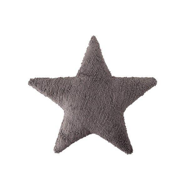 Grande cuscino a forma di stella di Lorena Canals, bello per decorare la cameretta!  Marca:Lorena Canals Colore: grigio scuro Realizzato a manoeper il100% in cotone Dimensioni: 50 x50 cm Lavabile in lavatrice a 30 gradi