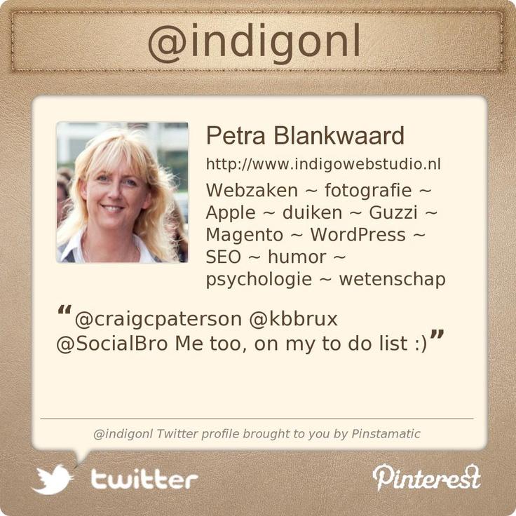 @indigonl's Twitter profile courtesy of @Pinstamatic (http://pinstamatic.com)