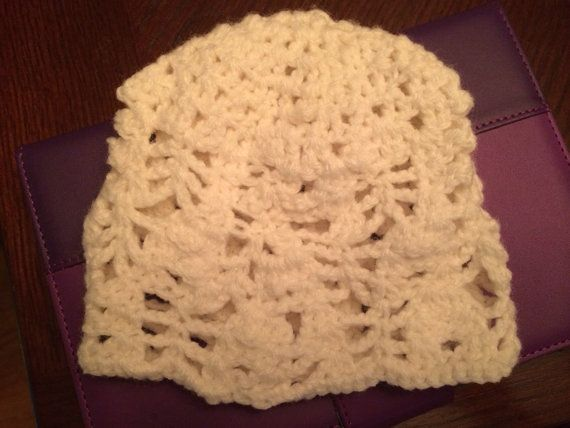 Crochet hat made to order on Etsy, $19.99 CAD