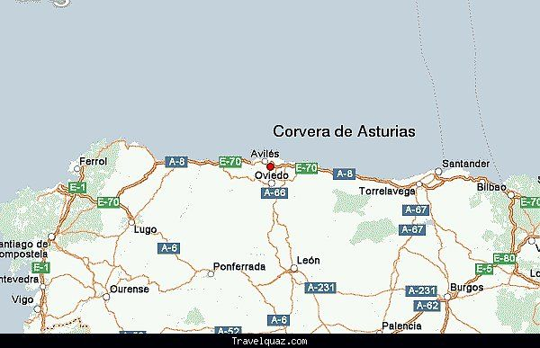Map of Corvera de Asturias - http://travelquaz.com/map-of-corvera-de-asturias.html