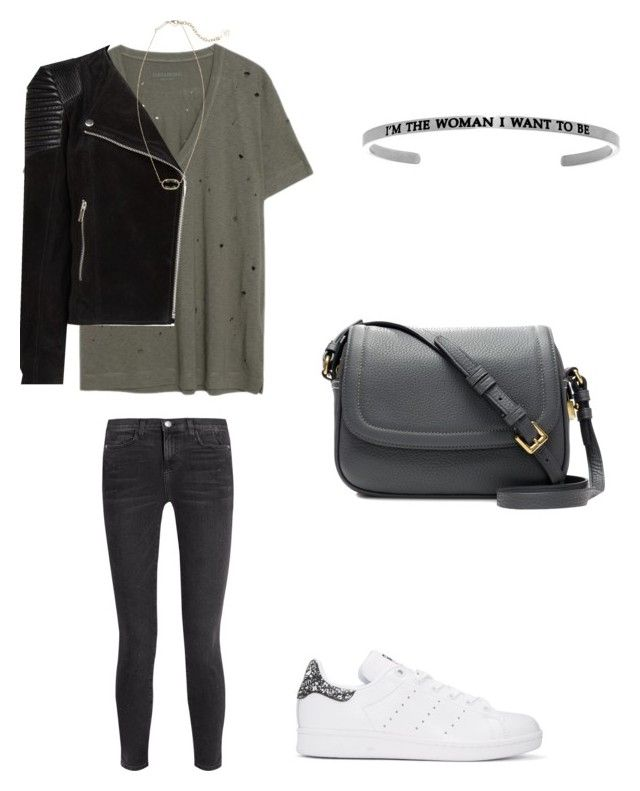 """Christmas present shopping"" by sarahfohlen ❤ liked on Polyvore featuring Zadig & Voltaire, adidas Originals, Current/Elliott, MANGO, Kendra Scott, J.Crew, Fall and 2k17"