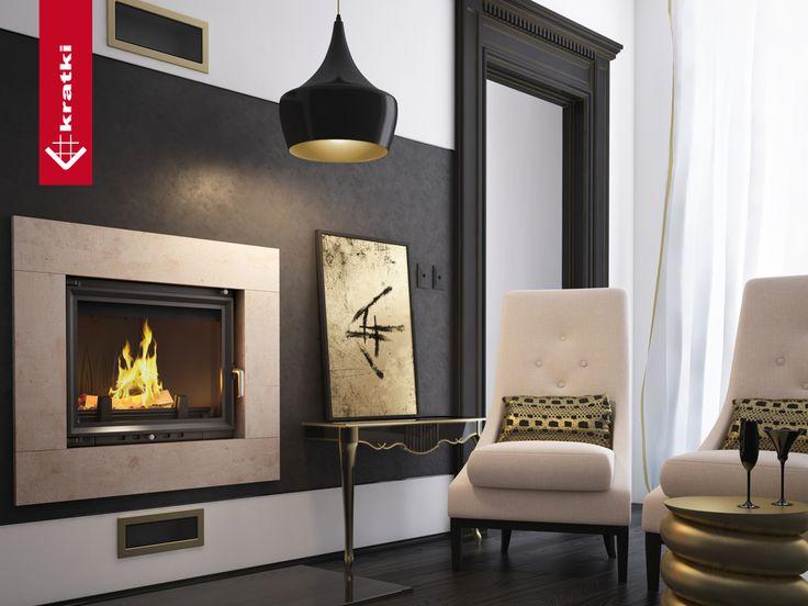 Fireplace ERYK 12 kW #kratkipl #kratki #fireplace #insert #interior #livingroom