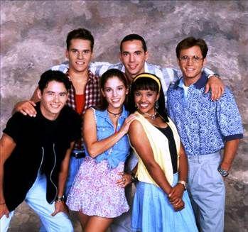 The Power Rangers (Adam, Rocky, Kimberly, Tommy, Aisha, and Billy)