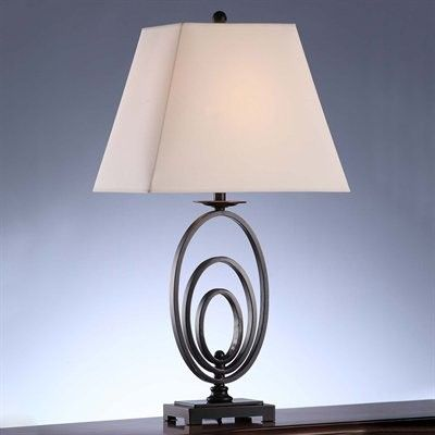 Captivating Crestview Collection CVACR952 Oval Ring Table Lamp