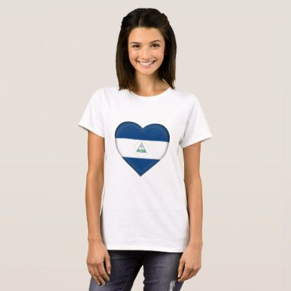 #Nicaragua Flag T-Shirt - #country gifts style diy gift ideas