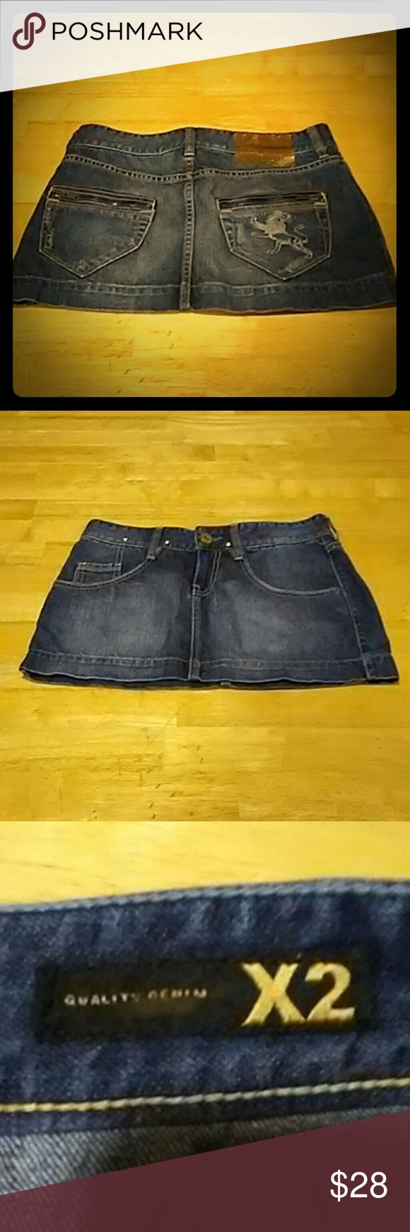 NWOT/QUALITY DENIM ×2 jean mini skirt definitely cute & sexxy QUALITY DENIM ×2 jean skirt. size 2. NWOT condition.  THANK-YOU! OPEN TO OFFERS ANY QUESTIONS?...JUST ASK CHECK OUTMY OTHER LISTINGS QUALITY DENIM ?2 Skirts Mini