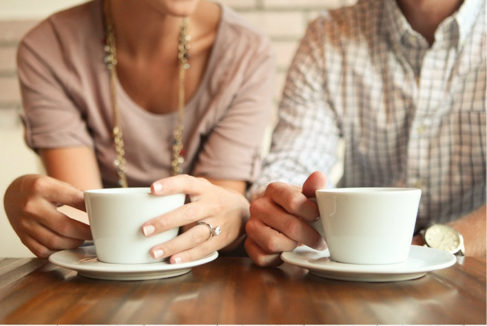 :) so cute - coffee engagement picture