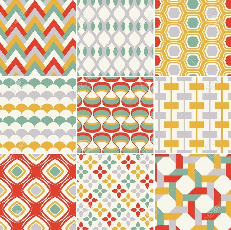 복고 원활한 추상적 인 기하학적 패턴 로열티 무료 사진, 그림, 이미지 그리고 스톡포토그래피. Image 19604732.