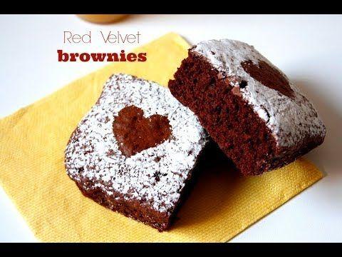 Red Velvet Brownies - Recetas para San Valentín