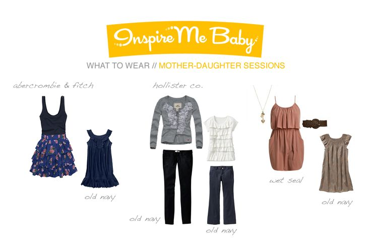 Mother-daughter outfit ideas; Note to self- look for Teenage version of daughter outfit