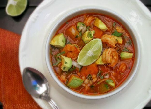 Caldo de Camarón (Mexican Shrimp Soup) | 10 Succulent Mexican Shrimp Recipes | These Are Easy, Classic, Delicious And So Perfect For Dinner by Homemade Recipes at http://homemaderecipes.com/10-mexican-shrimp-recipes/